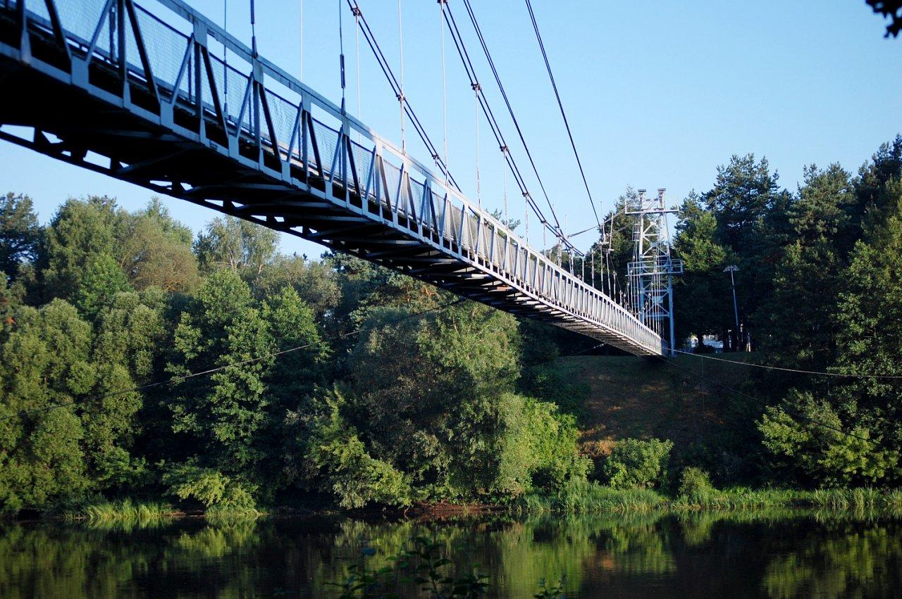 Подвесные пешеходно-велосипедные мосты намерены построить над Неманом