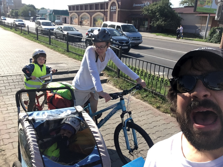 Blog of a Belgian family who risked cycling in Belarus with two children